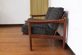 Mid Century Modern Danish Chair Wood Mid Century Modern Danish Teak Loveseat Sofa At 1stdibs
