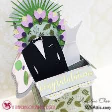 wedding wishes box blooming wedding wishes box card with svg attic scrappy scrappy