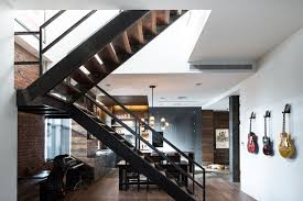 Industrial Stairs Design Design Industrial Staircase New York By