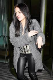 lindsay lohan leaving the bungalow 8 leather celebrities