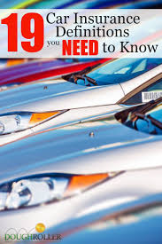 19 car insurance terms you need to know