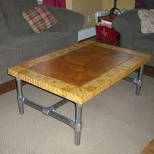 Free Simple End Table Plans by Delighful Rustic Coffee Table Plans W Planked Top Free Diy To