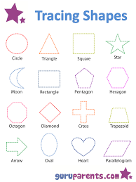 shapes worksheets and flashcards guruparents education early