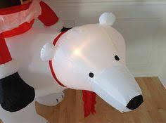 Inflatable Polar Bear Christmas Decorations by Gemmy 8ft Inflatable Polar Bear Christmas Gift Holiday Yard Decor