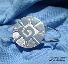 galactic butterfly hunab ku bracelet in silver