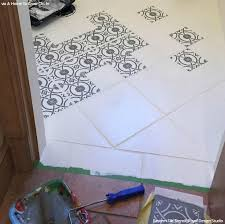 bathroom stencil ideas stencil and save upcycling bathroom tiles with stencils diy