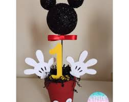 mickey mouse centerpieces instant mickey mouse centerpieces second 2nd birthday