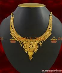 necklace choker design images Nckn277 gold plated guarantee necklace traditional calcutta jpg