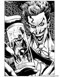 joker holding batman tube coloring pages printable
