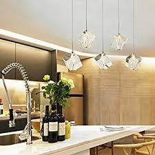 Crystal Light Fixtures Dining Room - dinggu chrome finish modern 3 lights crystal chandelier pendant