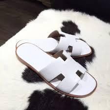 hermes izmir casual mens sandals box calfskin original leather