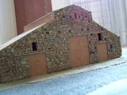 fabriquer porte de grange corps de ferme diorama d u0027une ferme en pierres naturelles