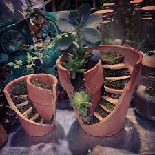 idee fai da te per il giardino idee per il giardino riciclo con vasi di terracotta 18 foto