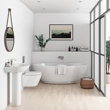 mode harrison bathroom suite with freestanding bath victoriaplum com