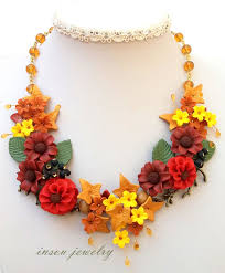 statement necklace with flower images Necklace autumn necklace romantic necklace statement necklace jpg