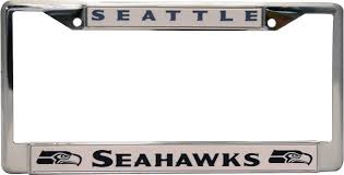 amazon com nfl seattle seahawks chrome licensed plate frame