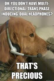 Xbox Live Meme - dogs on headset meme inducing dual headphones that s