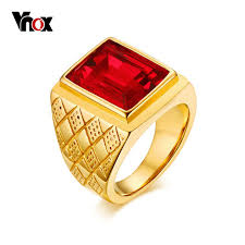 jewelry large rings images Vnox red stone large rings for men jewelry gold color stainless jpg