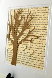 paper anniversary gifts for husband personalized anniversary wedding gift 3d paper tree with