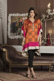 Orange And Shocking Pink Casual Dress Yc46 Exclusive Online