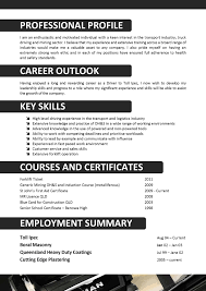 Best Resume Professional Writers by Resume For Truck Driver Berathen Com