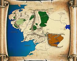 Lotr Map A Map Of Beleriand And Its Rulers Lotr Pinterest Lotr