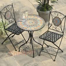 Mosaic Patio Table And Chairs 2 Chairs And Table Patio Set Awesome Metal Patio Furniture Mosaic