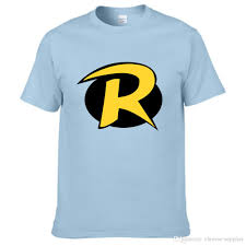 teen titans robin logo short sleeve mens shirt 3d letter