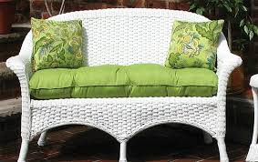 Wicker Settee Replacement Cushions Sunbrella Fabric Wicker Loveseat Cushion