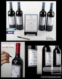 wine bottle wedding guest book coolest guest book ideas the wedding seamstress