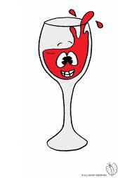 disegni bicchieri sta disegno di bicchiere di vino a colori