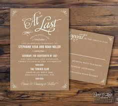 wedding invitation paper kraft paper wedding invitation by paperandlaceaustin on etsy the