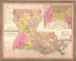 Maps Of Louisiana Map Of Louisiana 1850 Mitchell And Cowperthwait U2013 Shaw Galleries