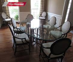 bamboo dining room table vintage mcguire bamboo and rattan dining room set 8 chairs large