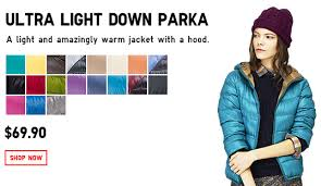 uniqlo ultra light down jacket or parka uniqlo innovating to be number one