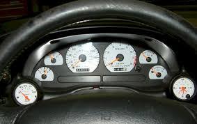 mustang custom gauges bright atlantic blue 1998 ford mustang svt cobra coupe