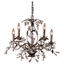 Light Crystal Chandelier House Of Hampton 5 Light Crystal Chandelier U0026 Reviews Wayfair