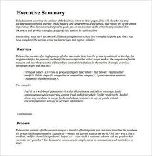 sample executive summary for a report 31 executive summary
