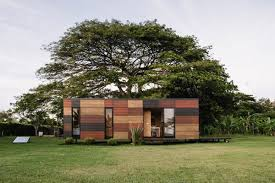Prefabricated Tiny Homes by Tour A Prefab Tiny Home Clad In Colorful Wooden Panels Curbed
