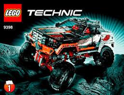 4x4 crawler 9398 lego technic building instructions lego