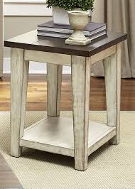 light wood end tables liberty furniture lancaster rustic end table with light distressing