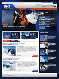 website template 42924 ski latest news custom website template