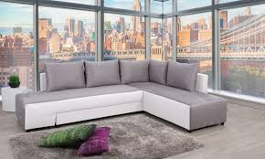 matière canapé canapé d angle convertible bi matière groupon shopping