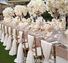 Wholesale Wedding Chair Covers Simple But Elegant White Chiffon Wedding Chair Cover And Sashes