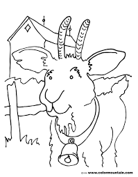 goat mask coloring page he goat coloring pages