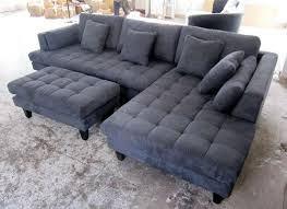 Charcoal Grey Sectional Sofa Awesome Sectional Sofa Design Grey Microfiber Bed Chaise Regarding