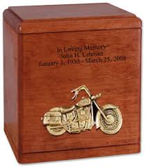 motorcycle urns motorcycle urn with applique memorial urns