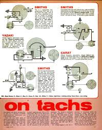 tachometers aka rev counters electrical instruments by