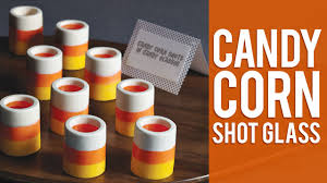 how to make candy corn shot glasses youtube