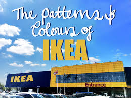 the patterns and colours of ikea eliston button